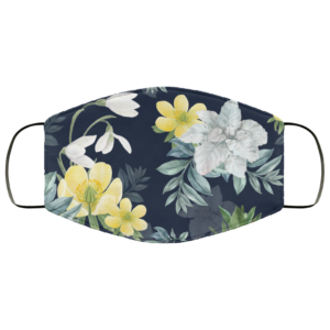 Winter Bloom Galanthus Face Mask Washable Reusable