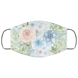 Watercolor Flowers Winter Face Mask Washable Reusable