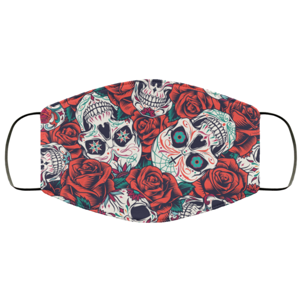 Vintage Day of Dead Face Mask Washable Reusable
