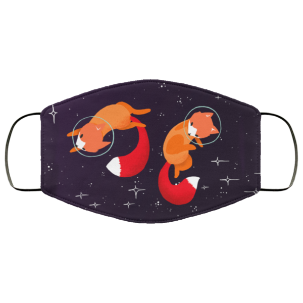 Space Foxes Washable Reusable Face Mask Adult