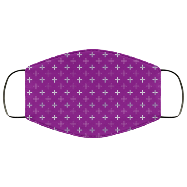 Greek Cross in Purple Washable Reusable Face Mask Adult