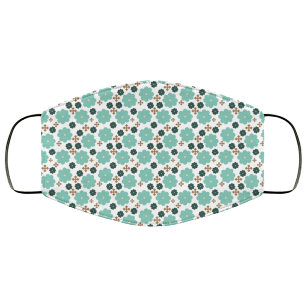 Flowers and Crosses Washable Reusable Face Mask Adult
