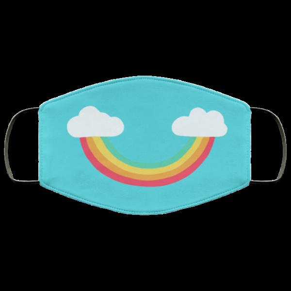 Rainbow Smile Washable Reusable Face Mask Adult
