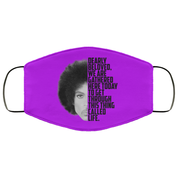 Prince Rogers Dearly beloved purple Face Mask washable