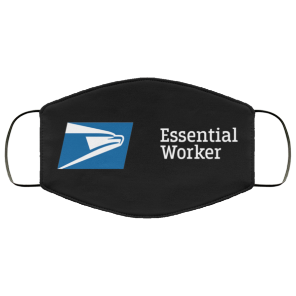 Essential Worker Postal Service Washable Reusable Face Mask Adult