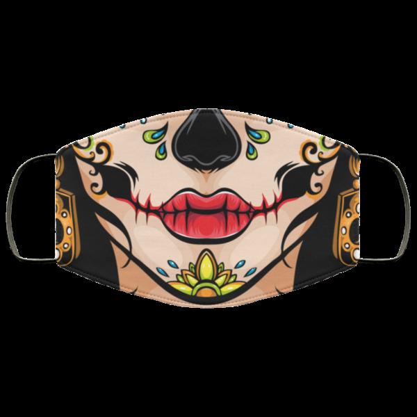 Mexican Calavera Sugar Skull Face Mask