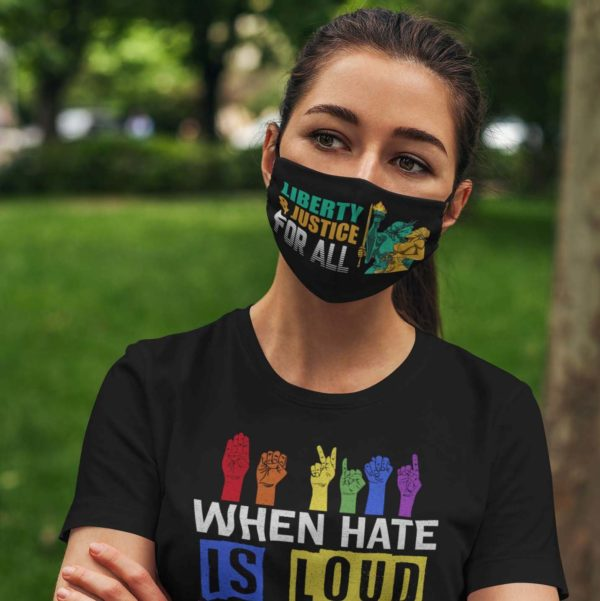 Liberty and Justice For All Face Mask