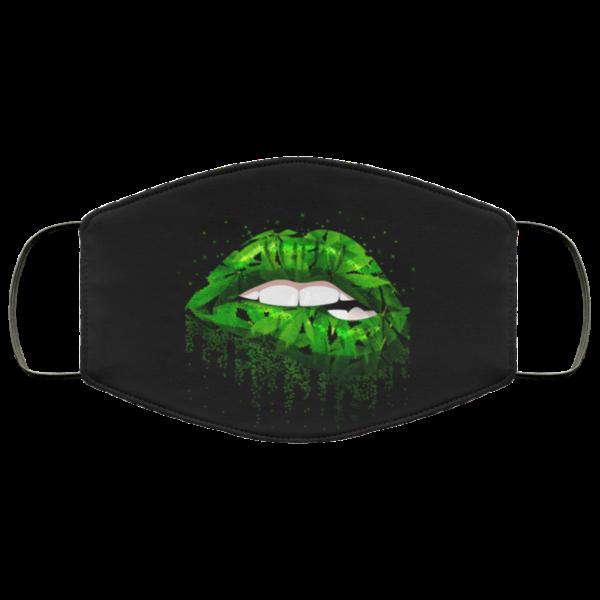 Cannabis Lips Face Mask