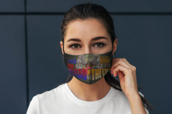 Stand For The Flag Kneel For The Cross American Flag Face Mask