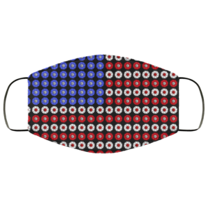 Sunflower American Flag 4th Of July Face Mask