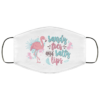 Sandy Toes And Salty Lips Flamingo Face Mask Cover