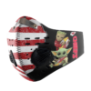 Baby Yoda And Groot Hug Kansas City Chiefs American Flag Activated Carbon Filter Sport Mask