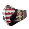 Baby Yoda And Groot Hug San Francisco 49ers American Flag Activated Carbon Filter Sport Mask