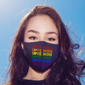 Love Wins Vintage Gay Pride Face Mask
