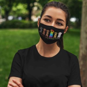Together We Rise Purride Rainbow Cat Lover LGBT Face Mask