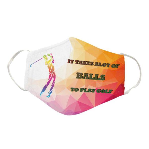 Golfer Cloth Face Mask Reusable