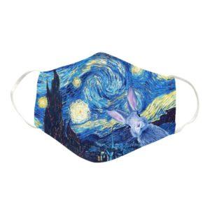 Rabbit Art Cloth Face Mask Reusable