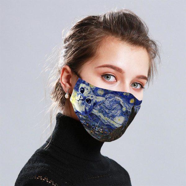 Cat Art Van Gogh Cloth Face Mask Reusable