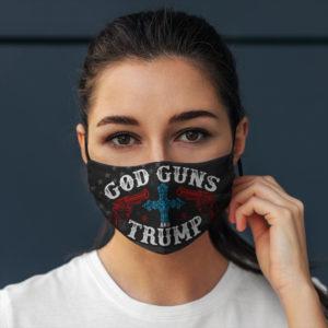 God Guns And Trump America Face Mask