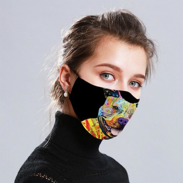 Bulldog Pattern Cloth Face Mask Reusable