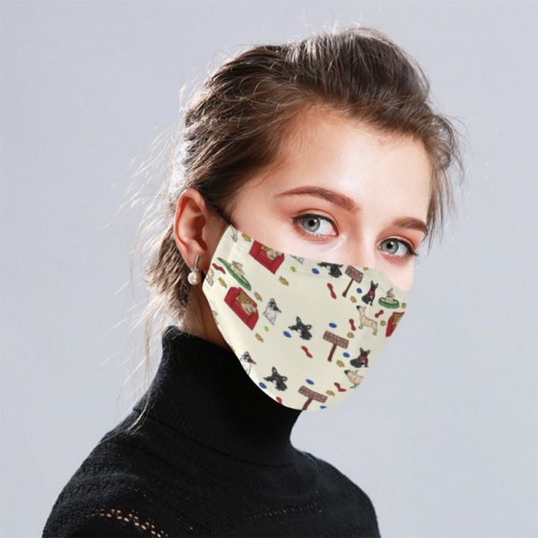 French Bulldog Cloth Face Mask Reusable