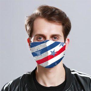 US Stripe Cloth Face Mask Reusable