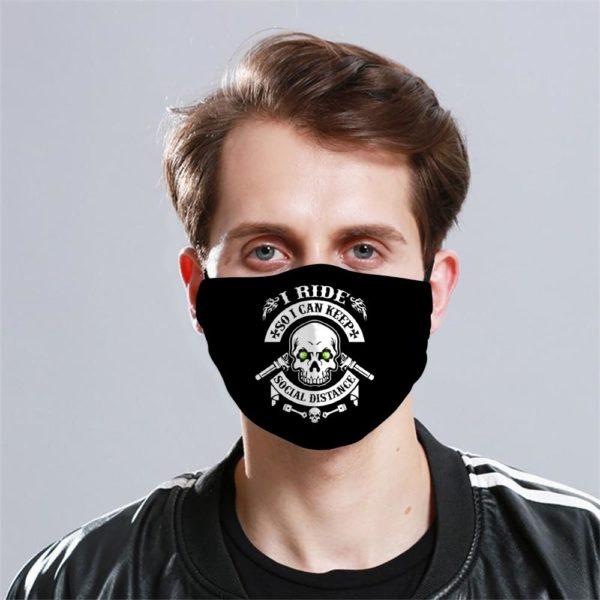 Biker Cloth Face Mask Reusable