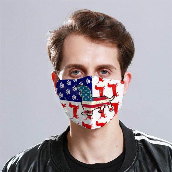 Dachshund Cloth Face Mask Reusable