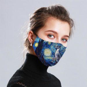 Greyhound Art Cloth Face Mask Reusable