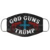 God Guns And Trump America Face Mask