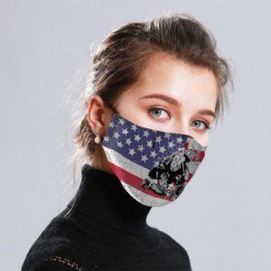 Firefighter Vintage Cloth Face Mask Reusable
