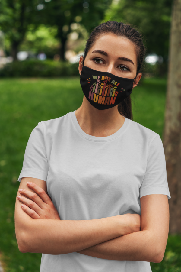 We Are All Human LGBTQ Gift Face Mask
