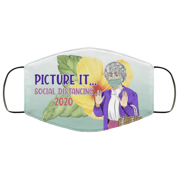 Picture It Social Distancing 2020 Golden Girls Face Mask