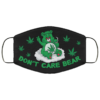 Dont Care Bear Funny Bear Smoking Weed Face Mask
