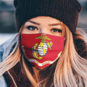 America Flag Marine Corps Military Armed Forces Flag Face Mask 1