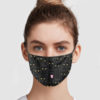 Black Cats Pattern Cloth Face Mask