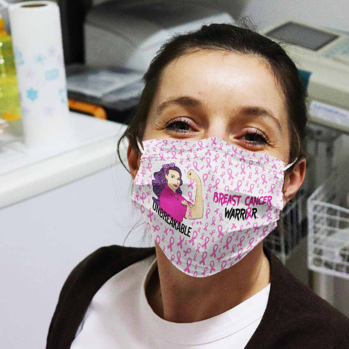 Breast Cancer Awareness Unbreakable Face Mask