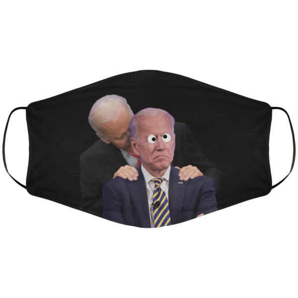 Creepy Uncle Joe Sniffing Crazy Uncle Joe Face Mask