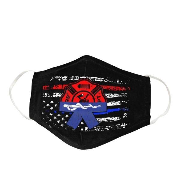 Firefighter Black America Flag Cloth Face Mask