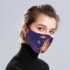 Spacecraft Cloth Face Mask Reusable