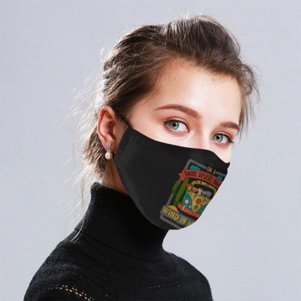 Hippie Cat Cloth Face Mask Reusable