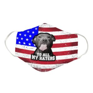 Funny Pit Bull Cloth Face Mask Reusable
