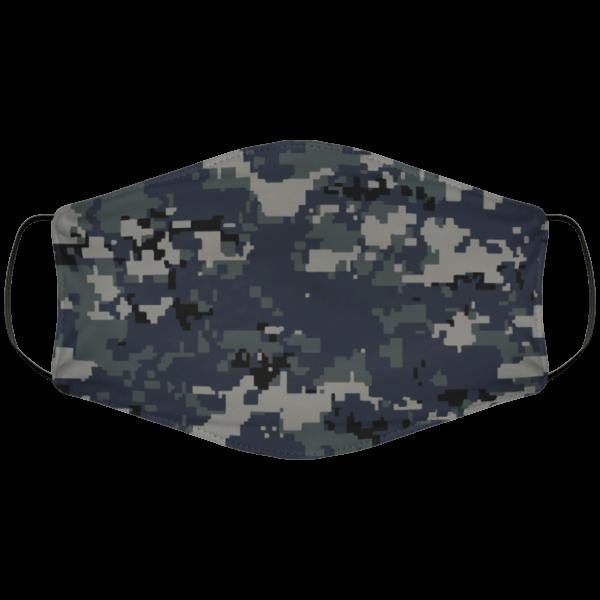 Navy Digi Face Mask