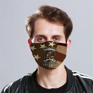 Veteran Flag Cloth Face Mask Reusable