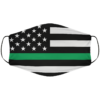 Greenline Flag Face Mask