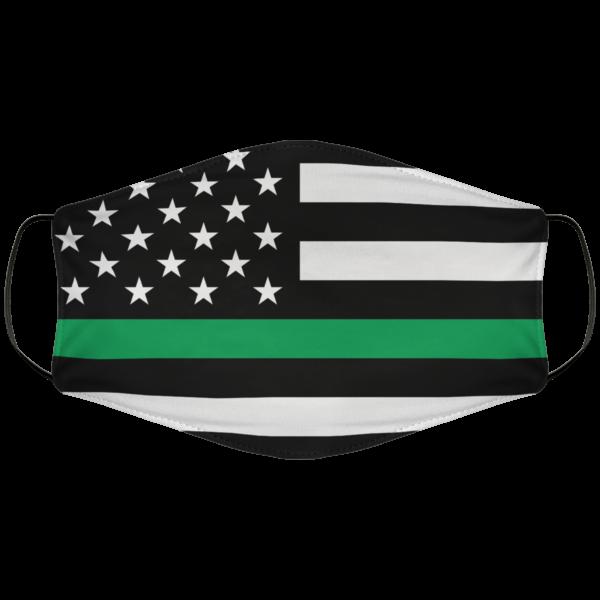 Greenline Flag Face Mask