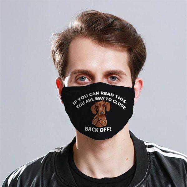 Dachshund Funny Cloth Face Mask Reusable