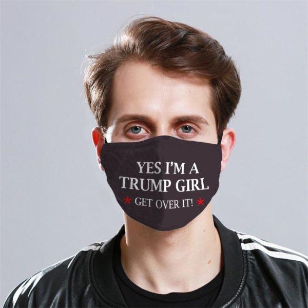 Trump Girl Cloth Face Mask Reusable