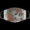 Skull Rose Flower Cloth Face Mask