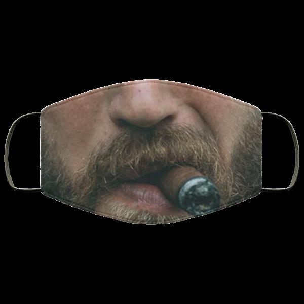 Beard and Cigar Cloth Face Mask